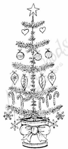 O6825 Simple Tree With Ornaments