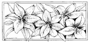 O6980 Lilies In Rectangle
