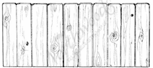 O7034 Wooden Fence