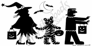 O7522 Solid Trick Or Treaters Border
