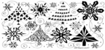O7732 Swirly Tree and Snowflake Border