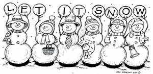 O7761 Let It Snow Snowmen