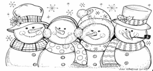 O7764 Four Snowmen Friends