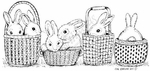 O7930 Bunnies In Baskets Border