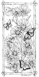 O8023 Wood Asters And Butterflies In Bark Frame