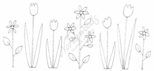 O8030 Contemporary Spring Flower Border