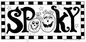 O8107 Spooky With Checkerboard Border
