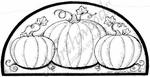 O8191 Three Pumpkins In Half Circle