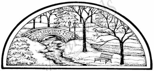 O8330 Winter Bridge In Half Circle