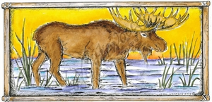 O8534 Moose In Rectangle Frame