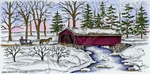 O8819 Covered Bridge And Sleigh