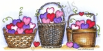O8946 Three Heart Baskets
