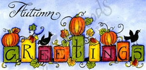 O9195 Block Autumn Greetings