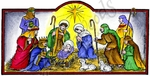 O9253 Nativity In Arched Rectangle