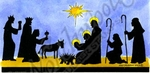 O9254 Silhouette Nativity