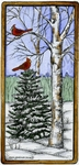 O9634 Winter Scene In Wood Rectangle