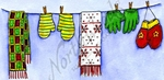 O9681 Mitten And Scarf Clothesline