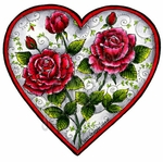 PP9374 Old Fashioned Heart With Roses