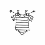 Onesie With Clothespins - C10426