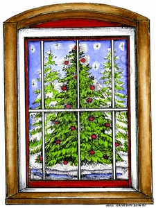 P10115 Outdoor Tree Window Scene