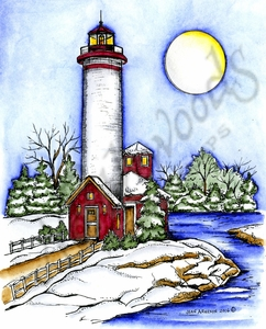 P10140 Tall Winter Lighthouse