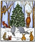 P10143 Winter Tree And Woodland Animals