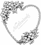 P1221 Apple Blossom and Lace Heart
