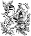 P1932 Chickadee Holiday