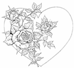 P225 Rose Stem With Heart