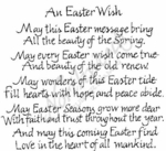 P2493 Calligraphy An Easter Wish