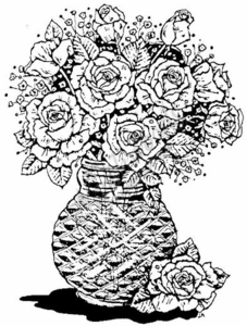 P293 Marie's Vase of Roses