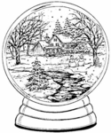 P2971 Winter Snow Globe