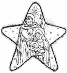 P2997 Mary, Joseph and Jesus In Star