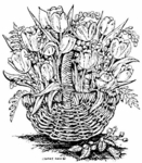 P3342 Tulip Wicker Basket