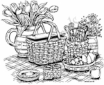 P3600 Picnic Basket With Tulips