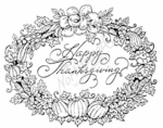P3713 Happy Thanksgiving Oval-Large