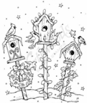 P3829 Christmas Birdhouses