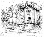P3943 Winter Bunny and Birdhouse