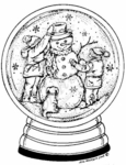 P3990 Snowman and Friends Snow Globe