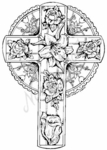 P4569 Floral Easter Cross