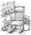 P4603 Spring Porch Rocker