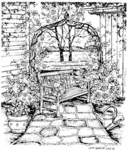 P4614 Bench and Arbor