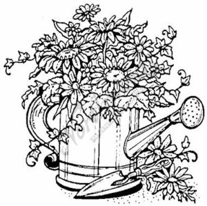 P466 Floral Watering Can-Large