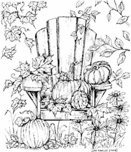P4755 Fall Adirondack Chair