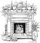 P4758 Autumn Fireplace