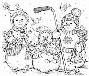 P4875 Hockey Snowman Family