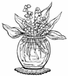 P554 Lily Of The Valley Vase
