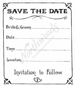 P6110 Save The Date With Border