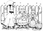 P6174 Trick Or Treaters With Picket Fence