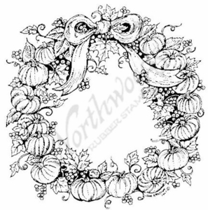 P6218 Mini Pumpkin Wreath